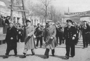 Во время праздничной демонстрации в 60-х годах